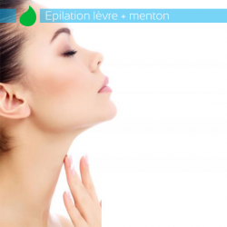 Epilation lèvres + menton