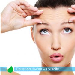 Epilation lèvres + sourcils