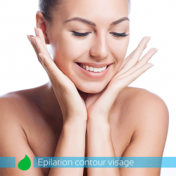Epilation contour visage