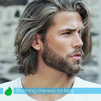 Brushing Homme Cheveux Mi-Long
